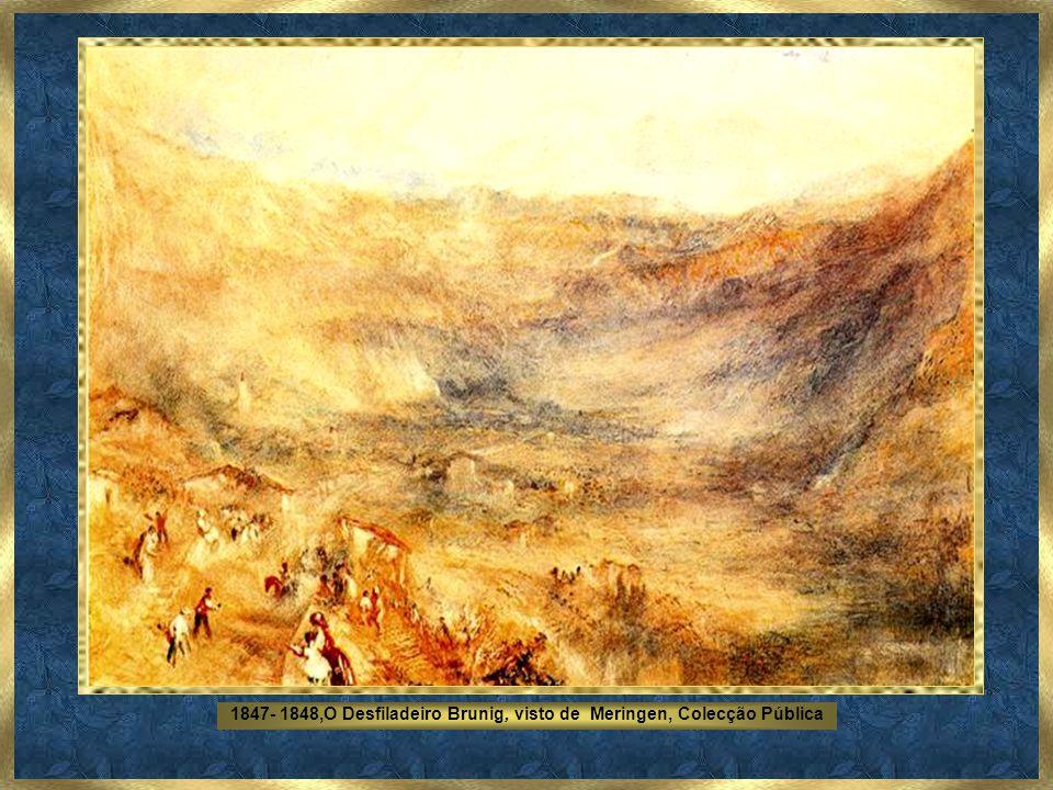 1842, Tempestade de Neve - Névoa - Tate Gallery, Londres