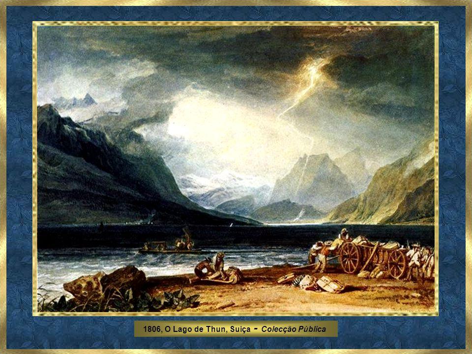 1806, O Lago de Thun, Suiça - Colecção Pública