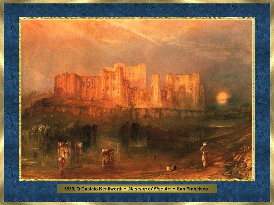 James Mallord William Turner foi uma figura ímpar da pintura e bem depressa conquistou o apreço da arte estabelecida graças a um talento fenomenal. Co