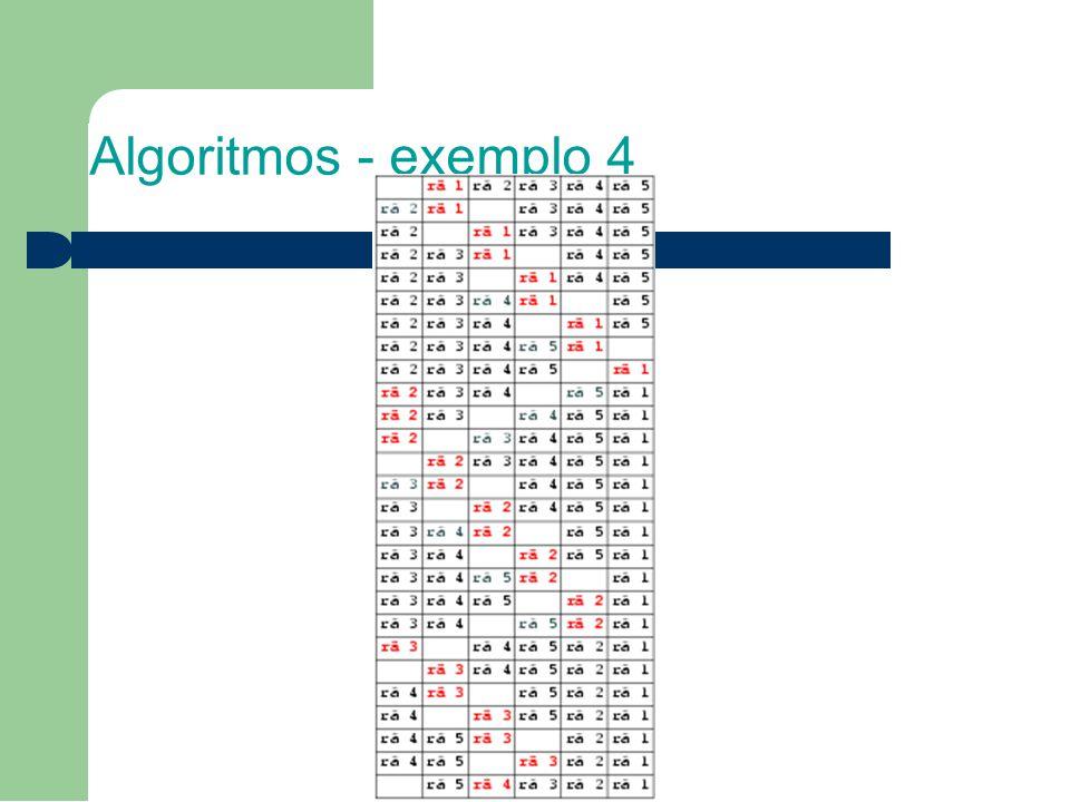 Algoritmos - exemplo 4
