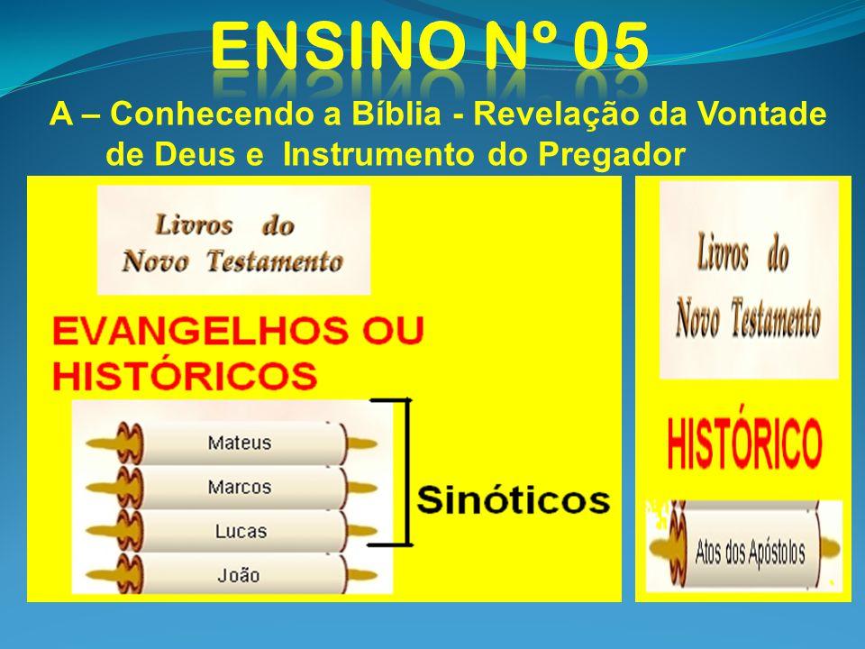 A – Conhecendo a Bíblia - Revelação da Vontade de Deus e Instrumento do Pregador