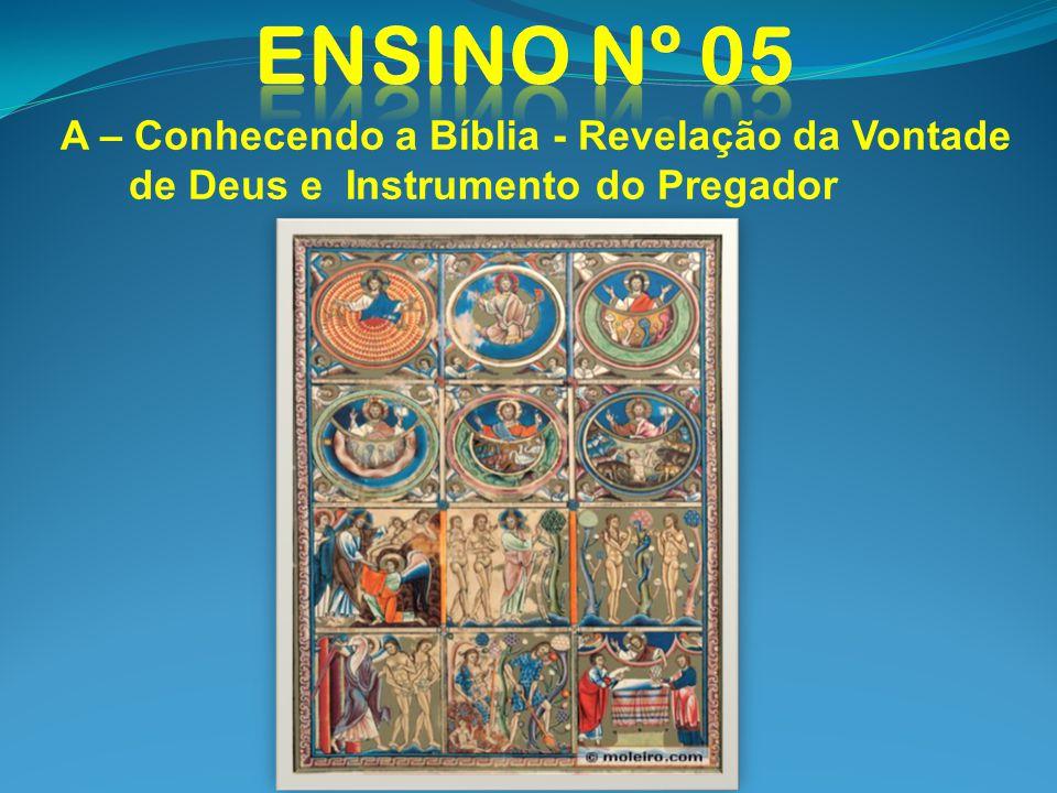 A – Conhecendo a Bíblia - Revelação da Vontade de Deus e Instrumento do Pregador 1 - O que é a Bíblia ?