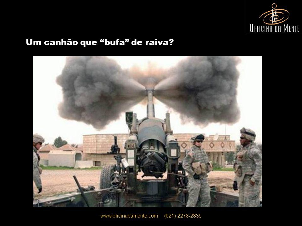 www.oficinadamente.com (021) 2278-2835 Um canhão que bufa de raiva?