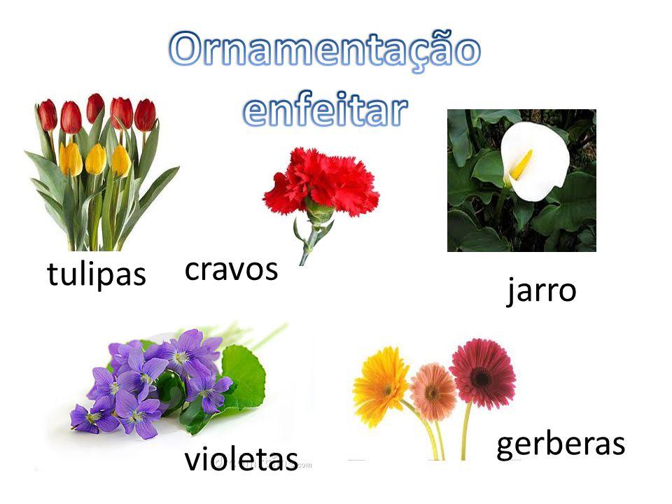 tulipas cravos gerberas violetas jarro