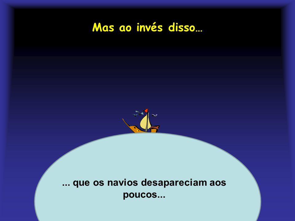 Mas ao invés disso… Profa. Lilian Larroca... que os navios desapareciam aos poucos...