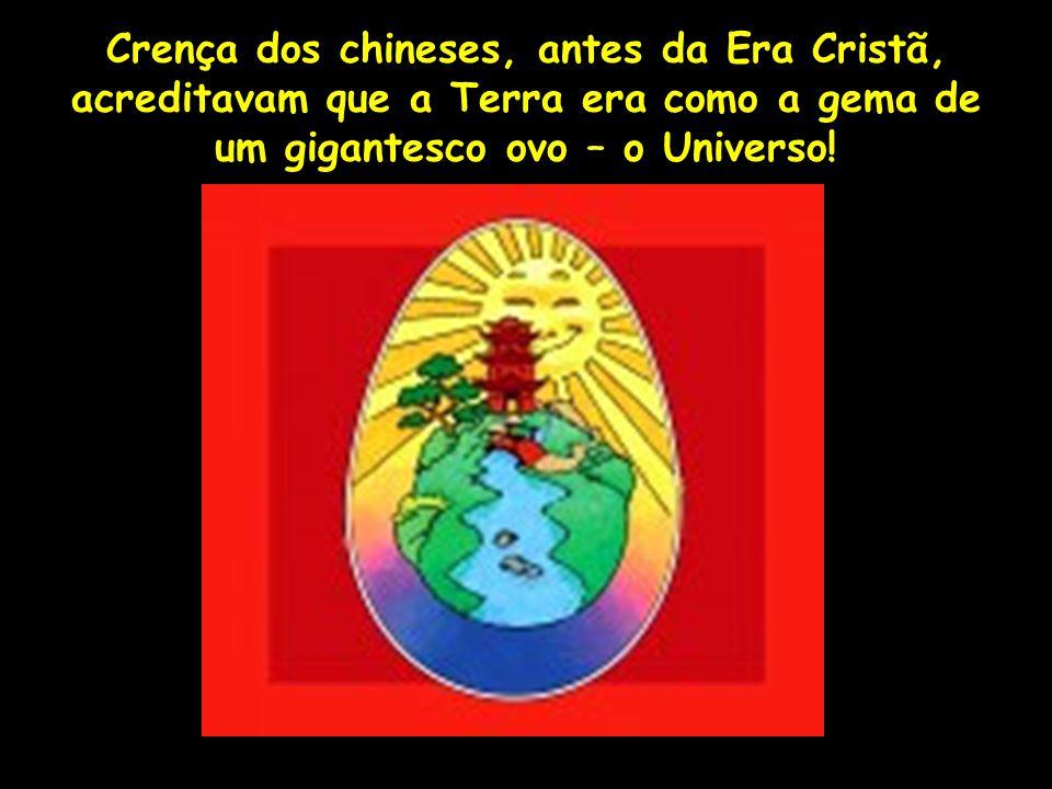 Crença dos chineses, antes da Era Cristã, acreditavam que a Terra era como a gema de um gigantesco ovo – o Universo! Profa. Lilian Larroca