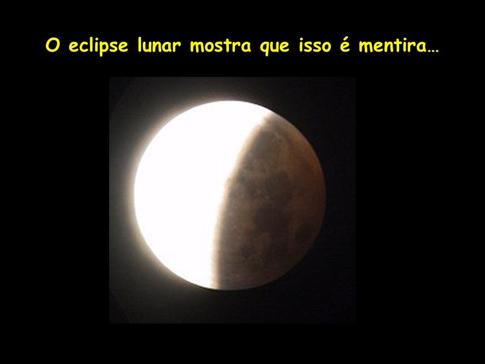 O eclipse lunar mostra que isso é mentira… Profa. Lilian Larroca