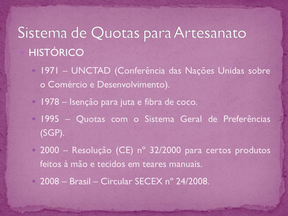 HISTÓRICO 1971 – UNCTAD (Conferência das Nações Unidas sobre o Comércio e Desenvolvimento).