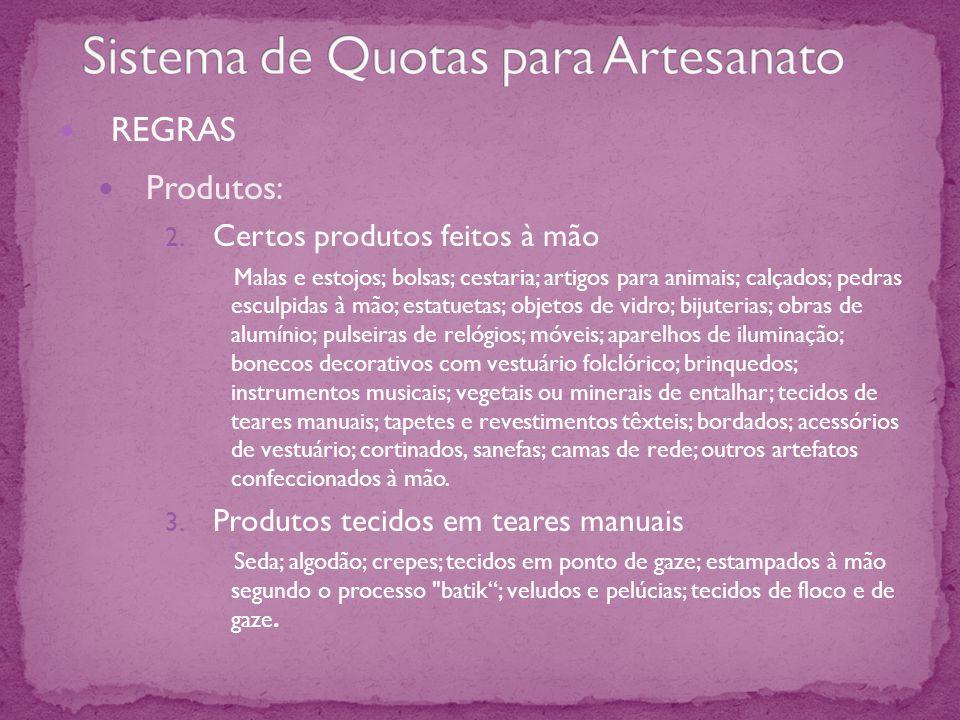 REGRAS Produtos: 2.
