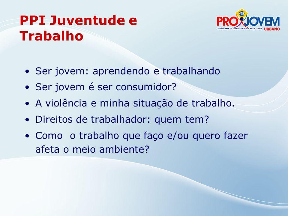 Trabalho: ampliar o campo de possibilidades a partir de diferentes trajetórias De cada 10 jovens brasileiros de 15 a 24 anos, sete estão ligados de alguma forma ao mercado de trabalho.(Almanaque da Juventude, 2007).