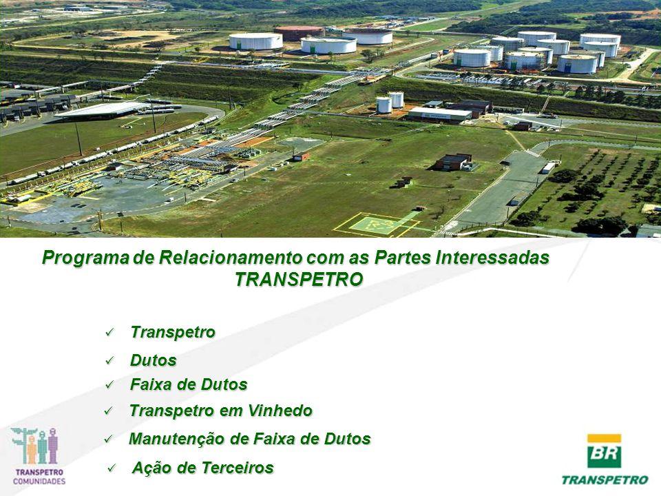 Programa de Relacionamento com as Partes Interessadas TRANSPETRO TRANSPETRO Transpetro Transpetro Transpetro Dutos Dutos Dutos Transpetro em Vinhedo T