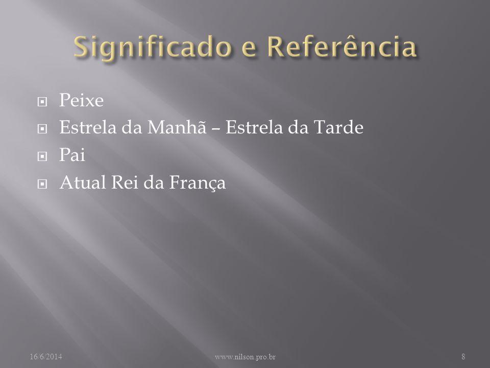 Peixe Estrela da Manhã – Estrela da Tarde Pai Atual Rei da França 16/6/2014www.nilson.pro.br8