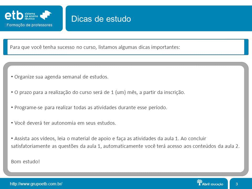 http://www.grupoetb.com.br/ A página de conclusão possui o encerramento do curso e dá acesso ao certificado.
