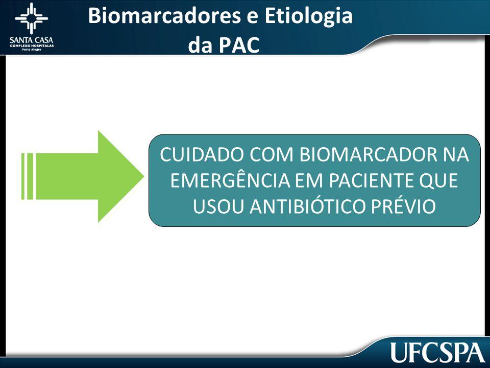 Biomarcadores e Etiologia da PAC CUIDADO COM BIOMARCADOR NA EMERGÊNCIA EM PACIENTE QUE USOU ANTIBIÓTICO PRÉVIO