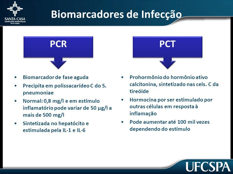 Biomarcadores de Infecção Biomarcador de fase aguda Precipita em polissacarídeo C do S.