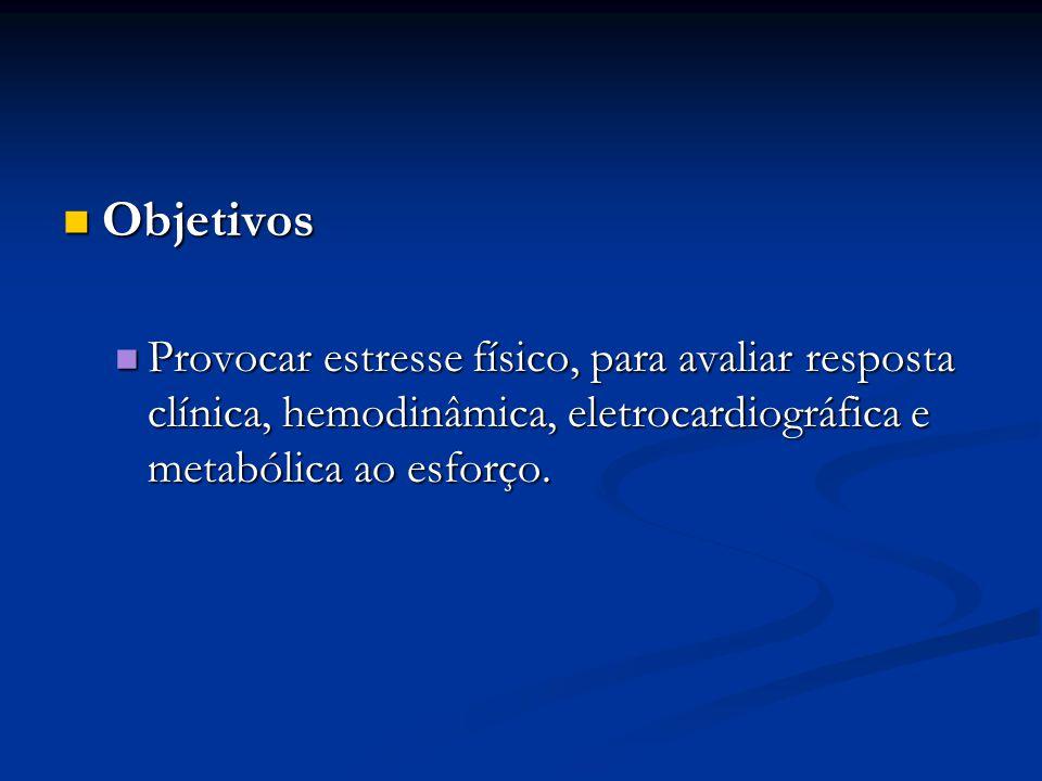 III Diretrizes SBC sobre Teste Ergométrico Avaliando : Avaliando : Isquemia Isquemia Arritmias Arritmias Dist.