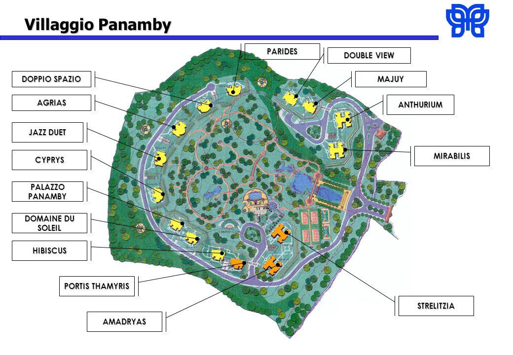 Villaggio Panamby CYPRYS STRELITZIA AMADRYAS PORTIS THAMYRIS HIBISCUS PALAZZO PANAMBY MIRABILIS DOPPIO SPAZIO MAJUY DOUBLE VIEW DOMAINE DU SOLEIL JAZZ DUET ANTHURIUMAGRIAS PARIDES