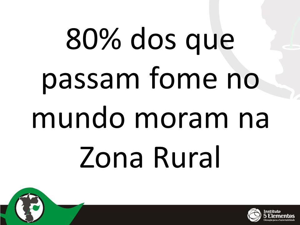 80% dos que passam fome no mundo moram na Zona Rural
