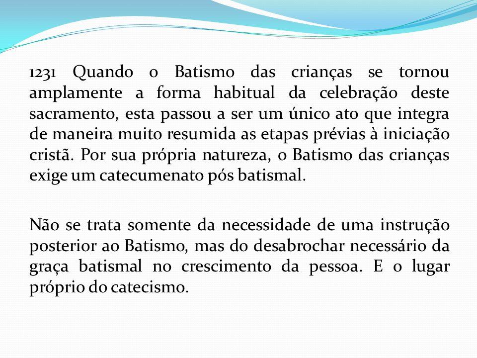 ASPECTOS GERAIS PARA A CELEBRAÇÃO DO SACRAMENTO I.