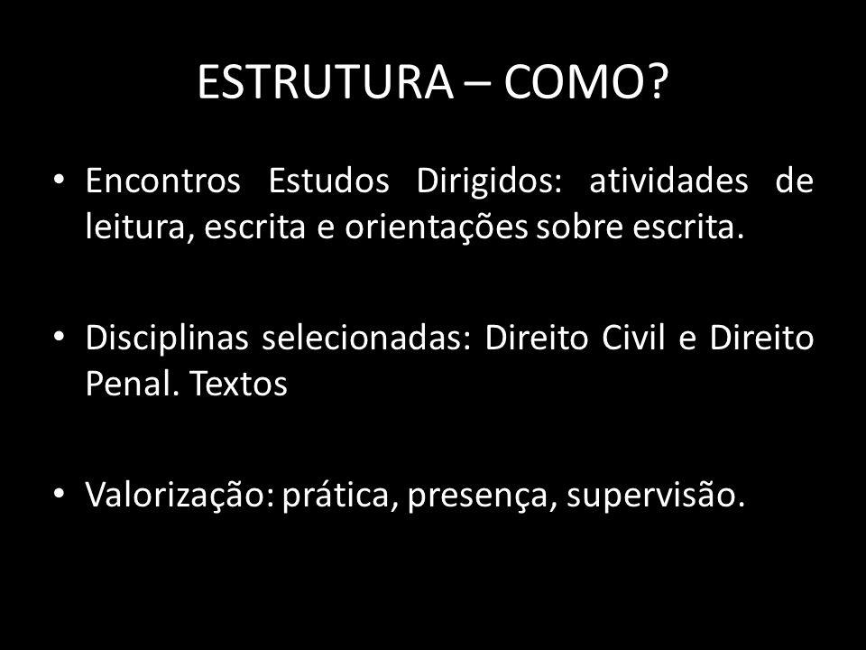 ESTRUTURA – COMO.