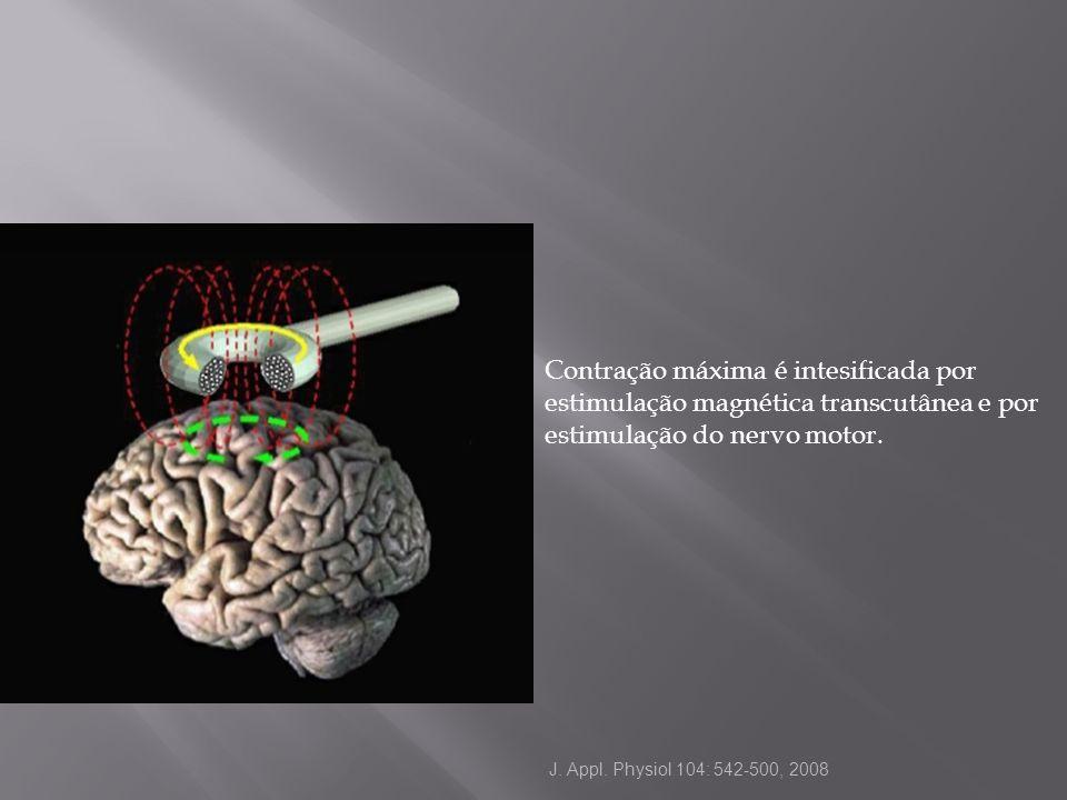 Contração máxima é intesificada por estimulação magnética transcutânea e por estimulação do nervo motor. J. Appl. Physiol 104: 542-500, 2008