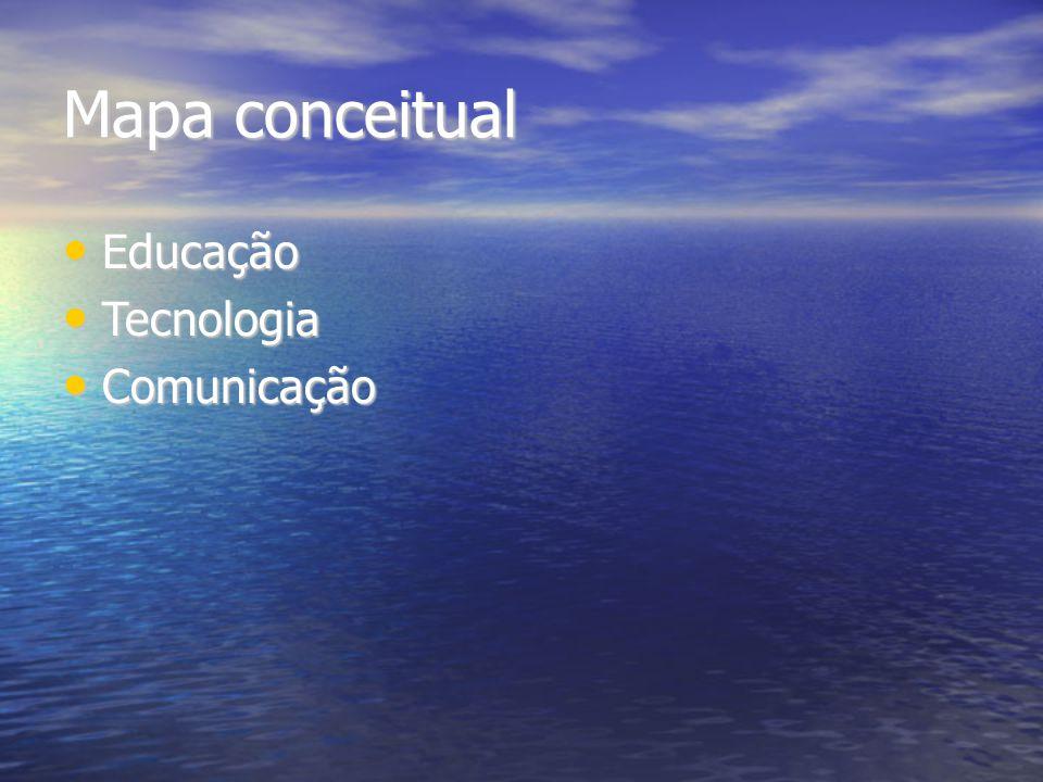 Mapa conceitual Educação Educação Tecnologia Tecnologia Comunicação Comunicação