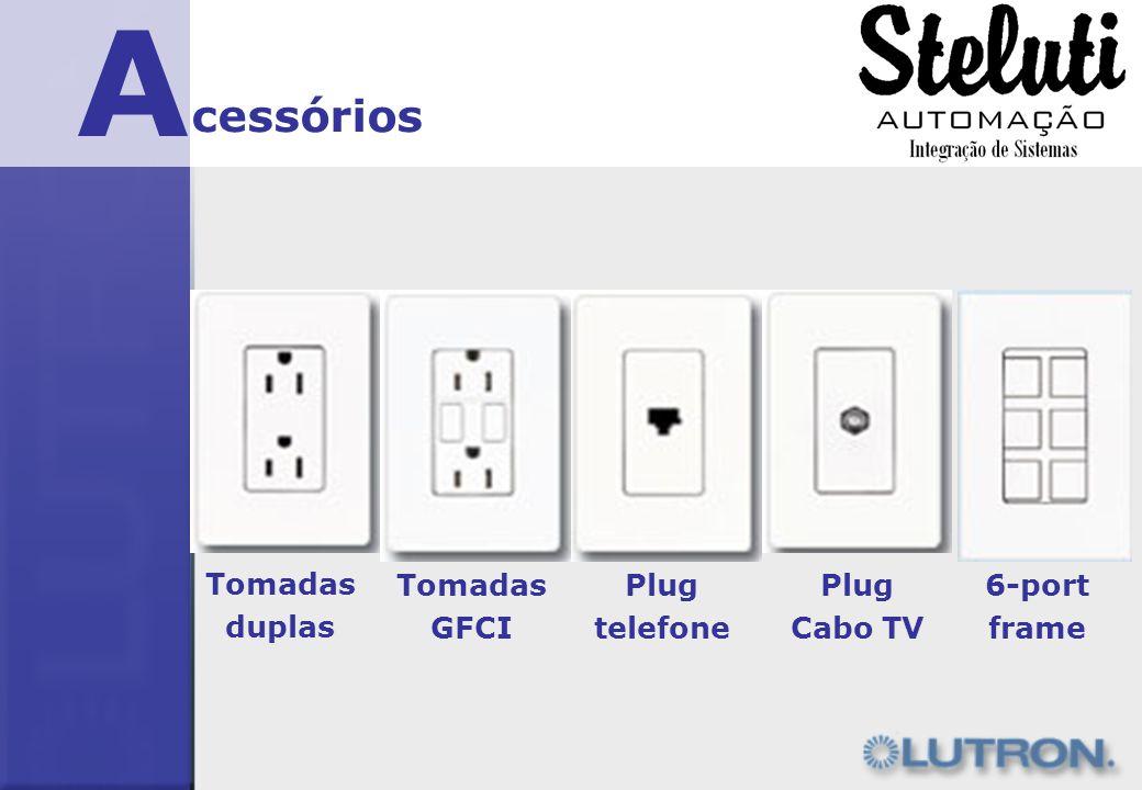 A cessórios Tomadas duplas Plug telefone Plug Cabo TV Tomadas GFCI 6-port frame