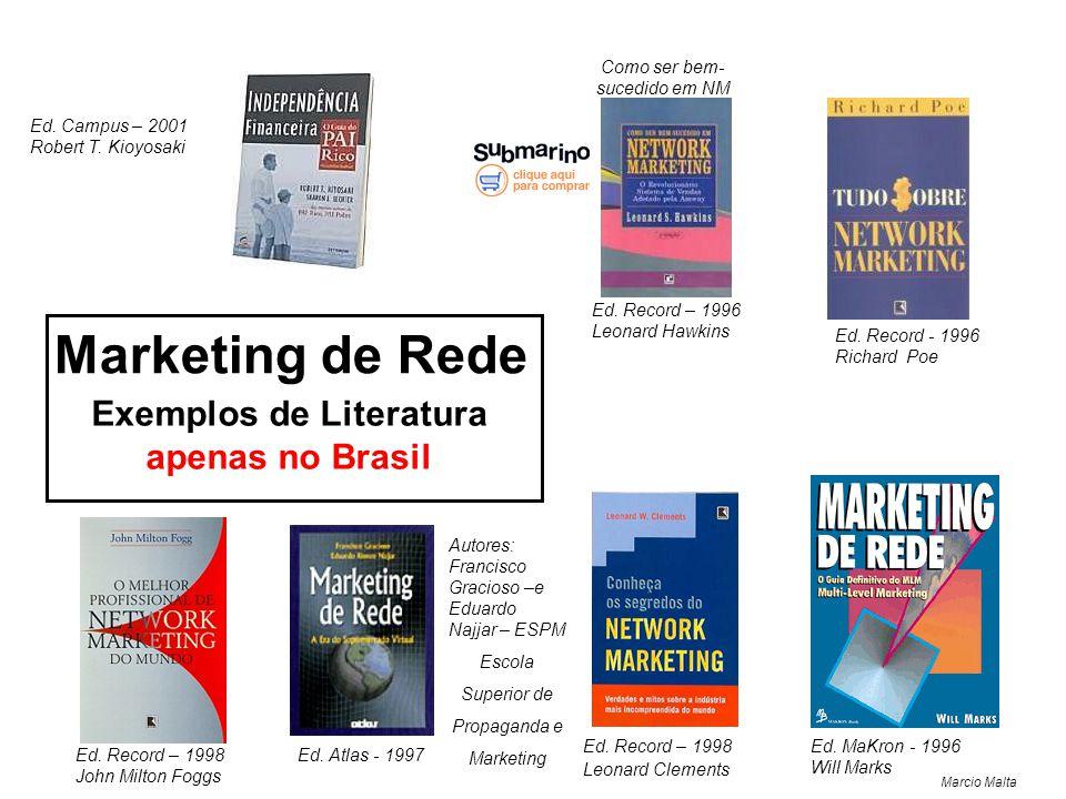 Marcio Malta Marketing de Rede Ed.Record – 1996 Leonard Hawkins Ed.