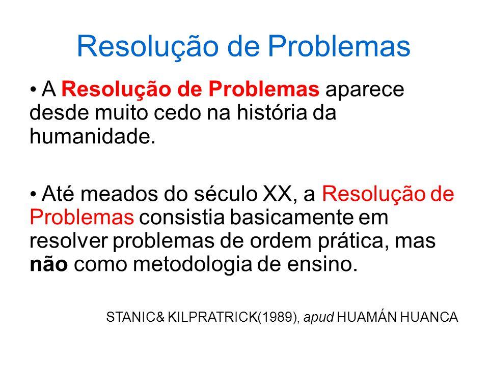 Resolução de Problemas Resolver problemas é uma habilidade prática, como nadar, esquiar ou tocar piano: você pode aprendê-la por meio de imitação e prática.