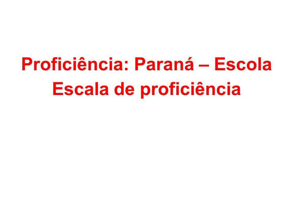 Proficiência: Paraná – Escola Escala de proficiência