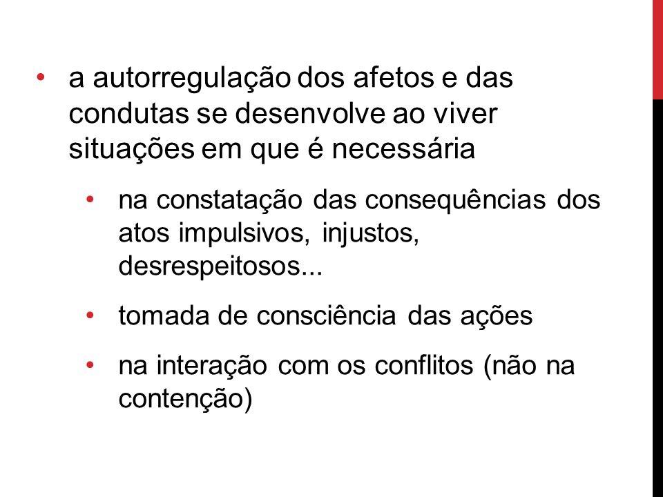 MOTIVOS DOS CONFLITOS (LICCIARDI, 2010) 255 conflitos 128 – 3 a 4 anos 127 – 5 a 6 anos