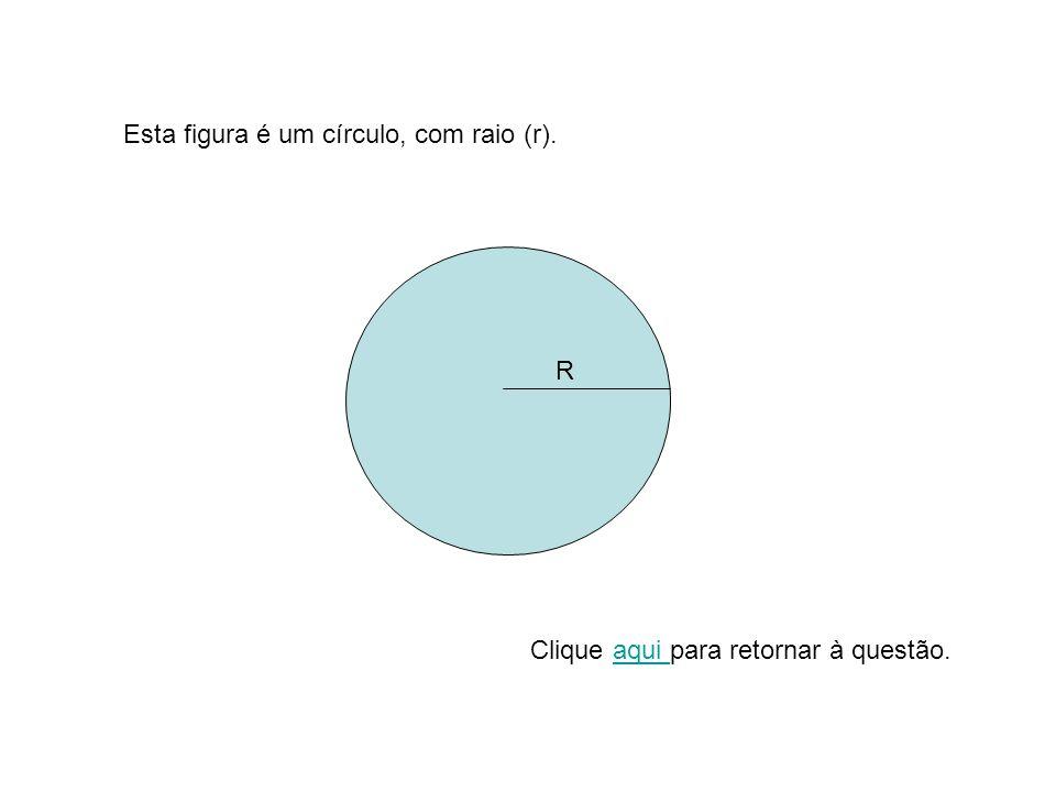 R Esta figura é um círculo, com raio (r). Clique aqui para retornar à questão.aqui