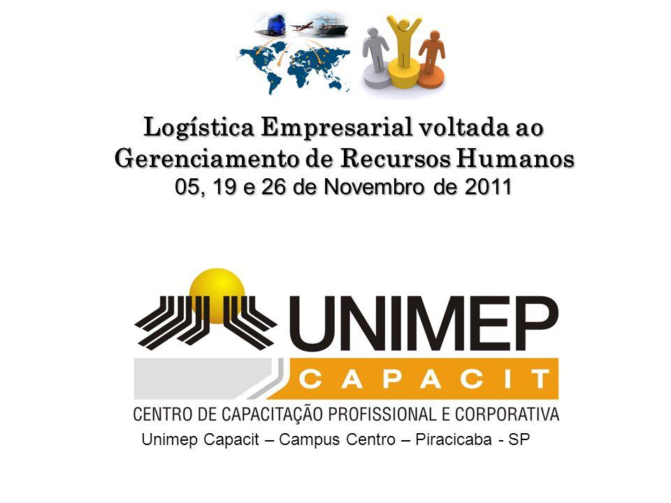 Unimep Capacit – Campus Centro – Piracicaba - SP Logística Empresarial voltada ao Gerenciamento de Recursos Humanos 05, 19 e 26 de Novembro de 2011