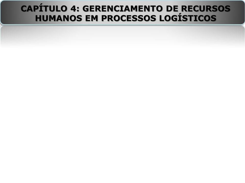 CAPÍTULO 4: GERENCIAMENTO DE RECURSOS HUMANOS EM PROCESSOS LOGÍSTICOS