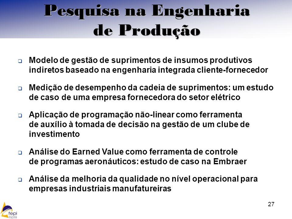 Modelo de gestão de suprimentos de insumos produtivos indiretos baseado na engenharia integrada cliente-fornecedor Medição de desempenho da cadeia de