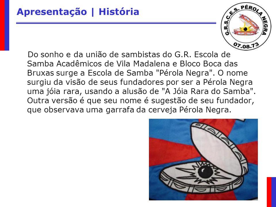 Apresentação | História Do sonho e da união de sambistas do G.R. Escola de Samba Acadêmicos de Vila Madalena e Bloco Boca das Bruxas surge a Escola de