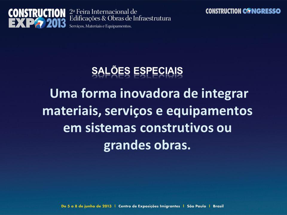 Uma forma inovadora de integrar materiais, serviços e equipamentos em sistemas construtivos ou grandes obras.