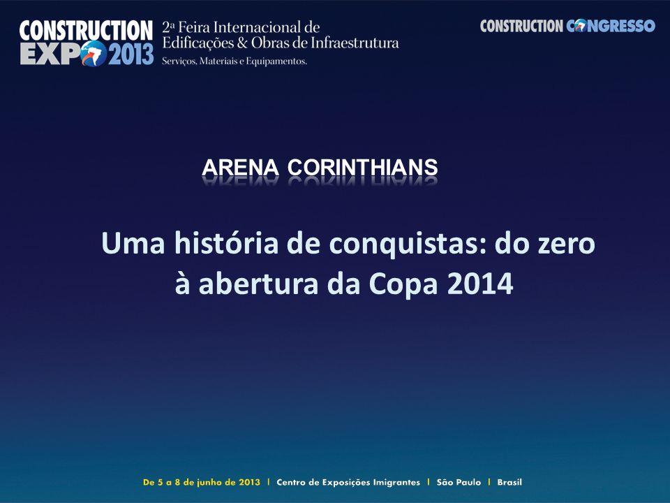 Uma história de conquistas: do zero à abertura da Copa 2014