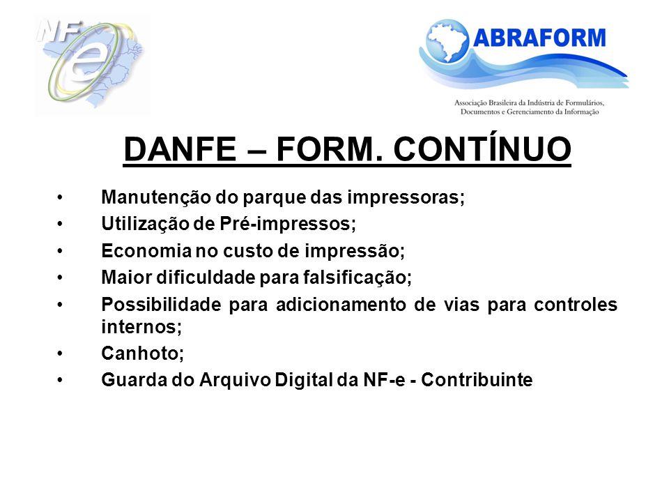Modelo em Formulário Contínuo – Retrato Modelo em Formulário Contínuo – Paisagem DANFE – FORM.