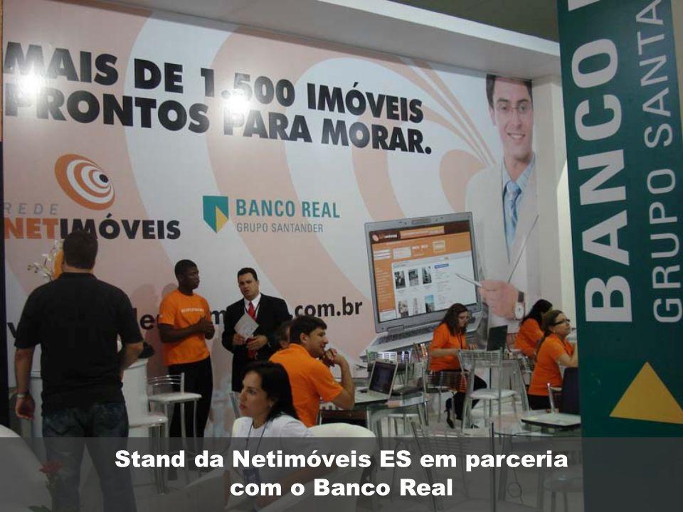 Stand da Netimóveis ES em parceria com o Banco Real