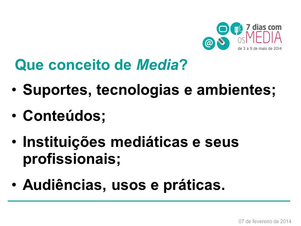 Que conceito de Media.
