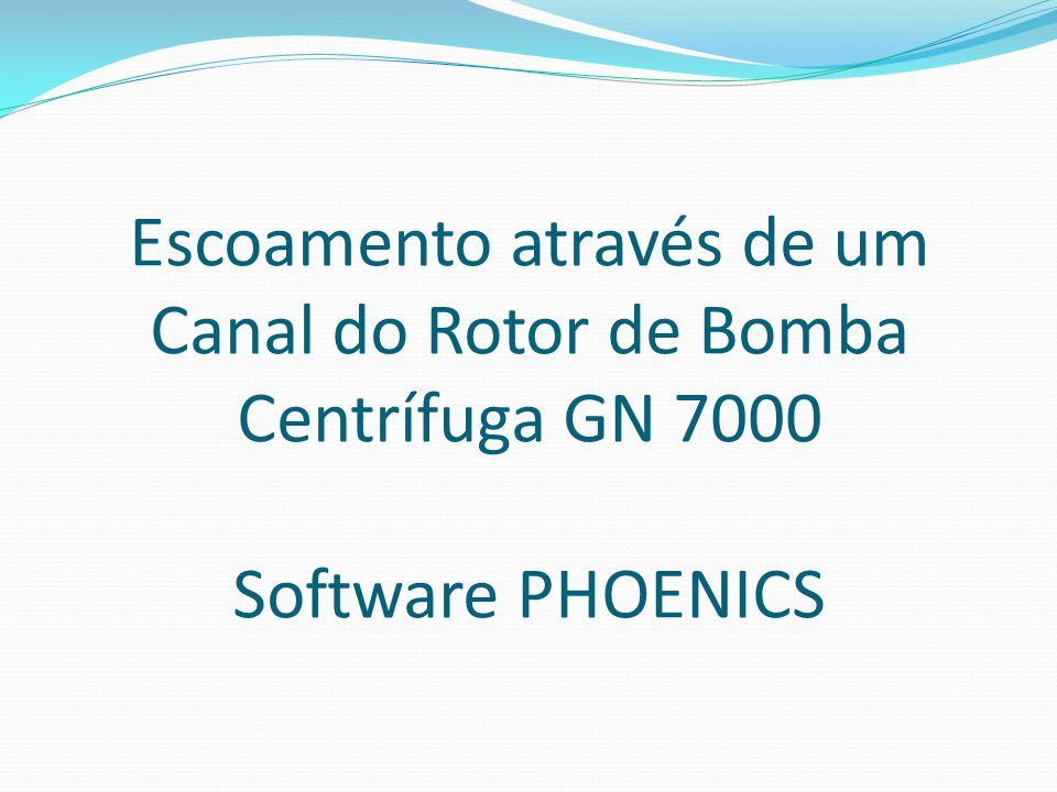 Escoamento através de um Canal do Rotor de Bomba Centrífuga GN 7000 Software PHOENICS