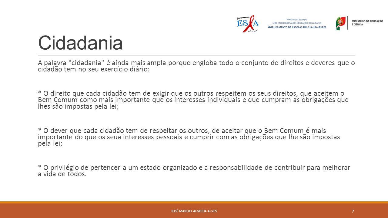 Cidadania em Portugal A ideia que todos os cidadãos possuem os mesmos direitos foi a bandeira dos liberais na sua luta contra os regimes absolutistas.