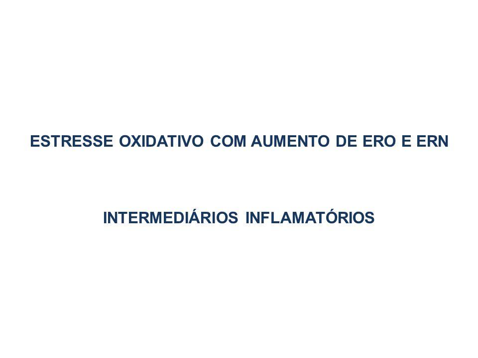 ESTRESSE OXIDATIVO COM AUMENTO DE ERO E ERN INTERMEDIÁRIOS INFLAMATÓRIOS