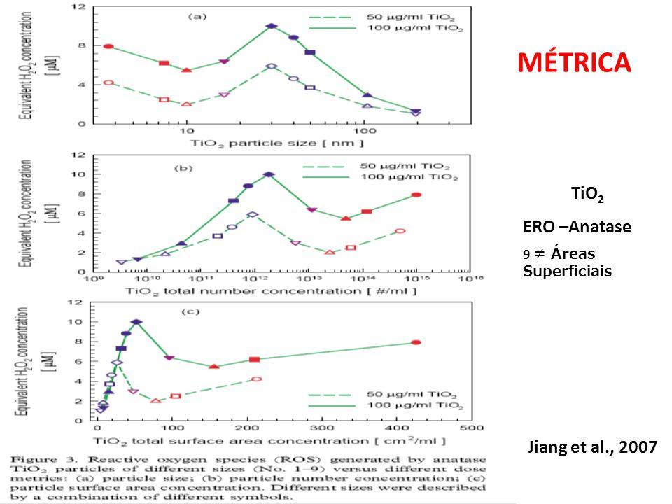 Jiang et al., 2007 TiO 2 ERO –Anatase 9 Áreas Superficiais MÉTRICA