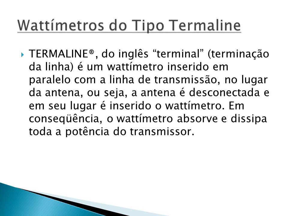 TERMALINE®, do inglês terminal (terminação da linha) é um wattímetro inserido em paralelo com a linha de transmissão, no lugar da antena, ou seja, a a