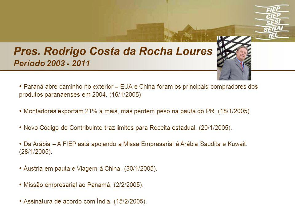 Paraná abre caminho no exterior – EUA e China foram os principais compradores dos produtos paranaenses em 2004. (16/1/2005). Montadoras exportam 21% a