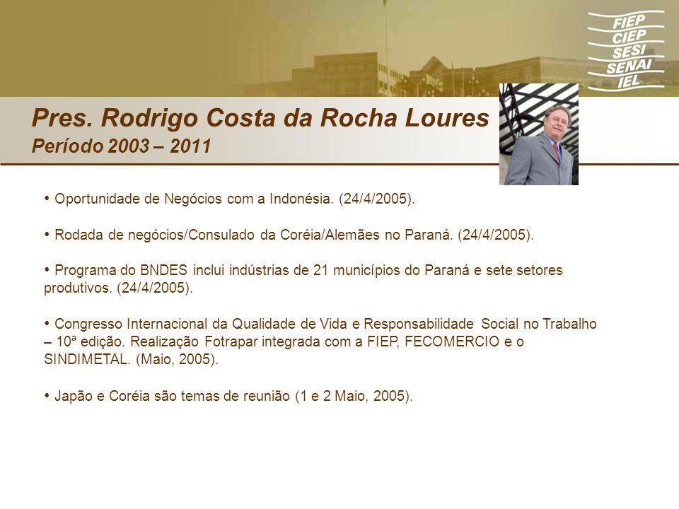 Oportunidade de Negócios com a Indonésia. (24/4/2005). Rodada de negócios/Consulado da Coréia/Alemães no Paraná. (24/4/2005). Programa do BNDES inclui