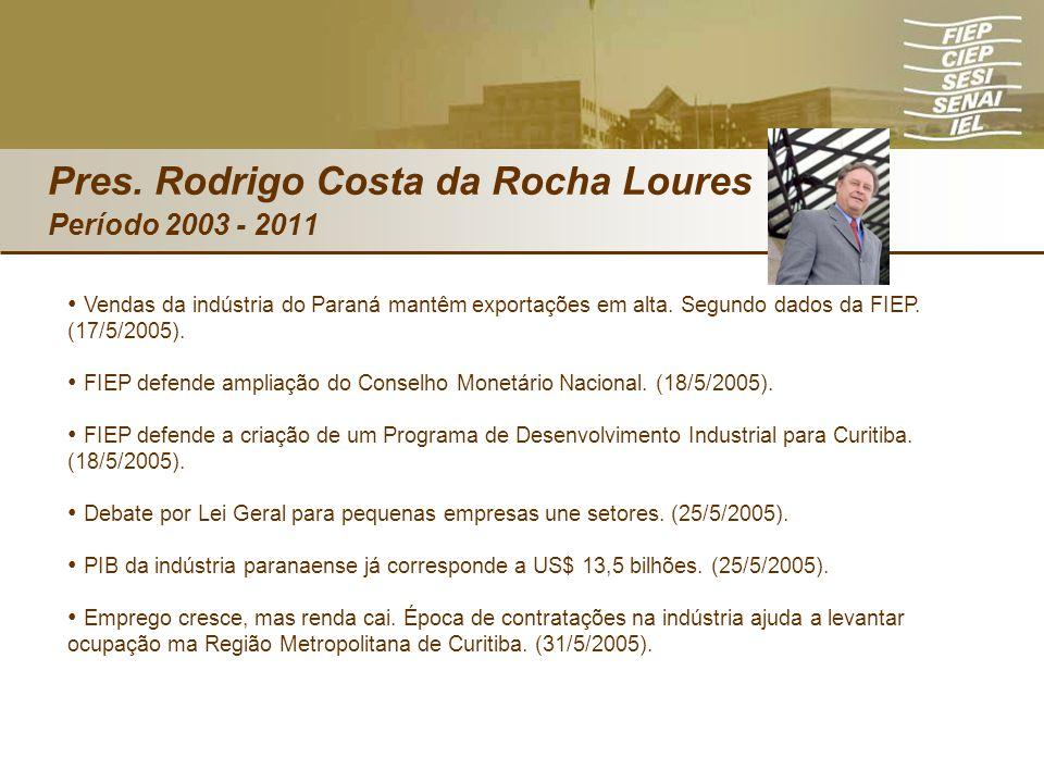 Vendas da indústria do Paraná mantêm exportações em alta. Segundo dados da FIEP. (17/5/2005). FIEP defende ampliação do Conselho Monetário Nacional. (