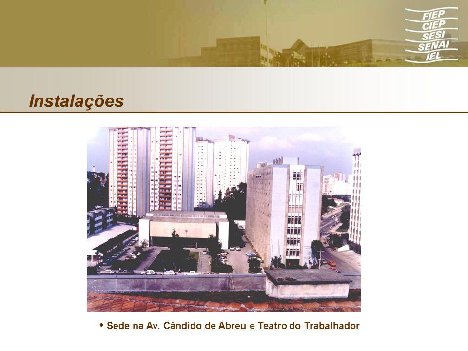 Instalações Sede na Av. Cândido de Abreu e Teatro do Trabalhador